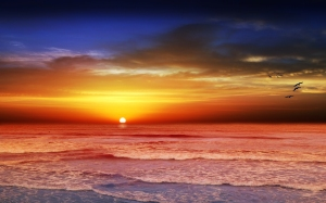 sunset beach by Chiaralily, CC BY-2.0